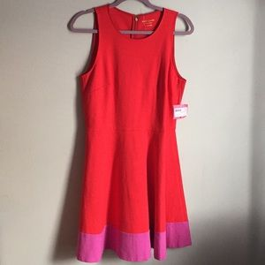 New Color block ponte A line dress